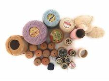 Vintage Mixed Lot Crochet Thread Pearl Mercerized Cotton Partials J&P Coats