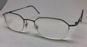 Silhouette Rx Eyeglasses Mens Silver Half Rim Hex 49/20/150