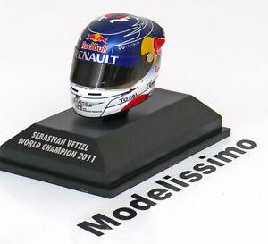1:8 Minichamps Red Bull Racing Arai helmet World Champion Vettel 2011