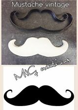 Mustache Vintage Uk Plastic Cookie Cutter Fondant Cake Decorating Cupcake