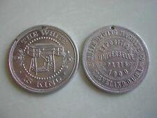 Jeton / médaille Exposition Universelle 1900 PARIS - White SEWING machine USA