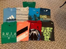 Lot of 9 Mens Size L Nike, Hurley, American Eagle Short Sleeve Shirts