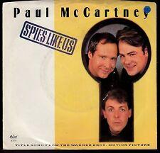 disco 45 GIRI Paul McCARTNEY SPIES LIKE US - MY CARNIVAL
