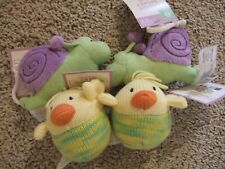 New Easter Baby Fillers Plush Stuffed Toys 4pc lot Baby Chicks Snails w/tags