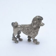 Fabulously Kitsch Mid Century Vintage 1950s Silver Metal Poodle Figurine
