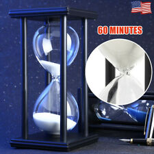 Wooden Sandglass Sand Hourglass 60 Minutes Countdown Timer Clock Gift Home Decor