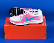 YOUTH NIKE ZOOM PEGASUS 34 (GS) RUNNING SHOES/SIZE 6 / WHITE-BLUE-RACER PINK