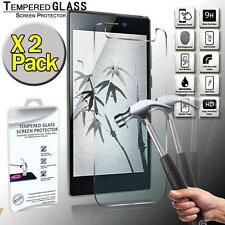 2 Pack Real Tempered Glass Screen Protector Cover For Freetel Samurai Miyabi