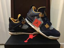 NEW NIKE JORDAN 4 RETRO DUNK FROM ABOVE NAVY GOLD Men's SIZE 10 (308497-425)