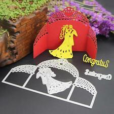 3X Bride Groom Wedding Cutting Dies Stencil Scrapbooking Photo Album Paper Craft
