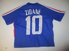 Maillot EQUIPE de FRANCE World Cup 2002 ADIDAS vintage ZIDANE shirt maglia 6 ans