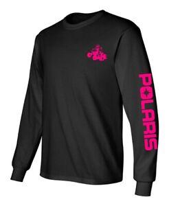POLARIS ATV Long Sleeve Tshirt BLACK or NAVY Many Design Color RZR Sportsman ACE
