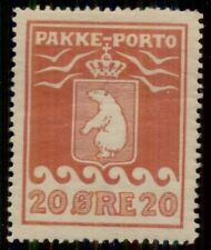 GREENLAND #Q6v (P9II) 20ore Pakke Porto, Thick Carton Paper variety, og, LH, VF,
