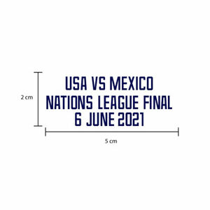 USA VS MEXICO CONCACAF NATIONS LEAGUE 2021 FINAL USMST Match details