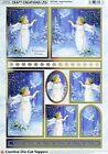 A4 DIE CUT 3D FOILED CARD TOPPER SHEET PAPER TOLE CHRISTMAS ANGEL & DOVE CDT548G