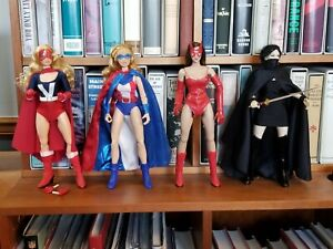 Lot Custom 12 inch 1/6 scale figures Fem-Force Miss Victory She-Cat Silhouette