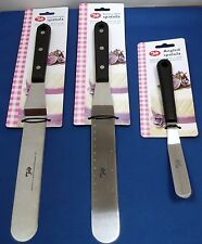 CAKE DECORATING PALETTE SPATULA ANGLED STRAIGHT MEASUREMENTS KNIVES SET OF 3