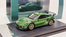 1:64 Porsche 911 GT2 RS Dealer Version Metallic Green Diecast