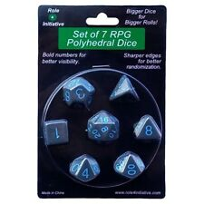 Polyhedral: Opaque Dark Gray/Light Blue (7)