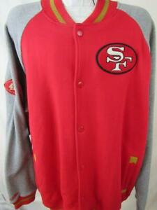 San Francisco 49ers Mens 4X-Large Mitchell & Ness Snap Front Jacket  ASNF 192