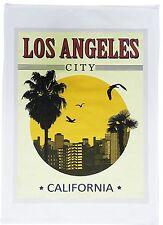 Città di Los Angeles, in California-Poster retrò stile da viaggio grande Cotone Asciugamani