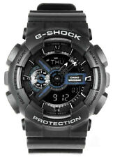 Casio G-Shock Analog-Digital 200m Anti-Magnetic Black Resin Watch GA110-1B