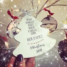 Christmas Tree Decoration Personalised Family Names