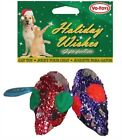 Vo-Toys Holiday Christmas Gift Glitter Mice Cat Toy 2 Pack Xpet Shiny Mouse