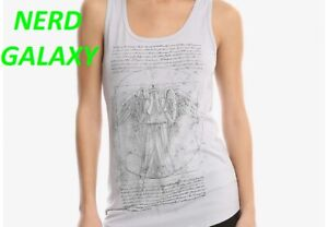 Doctor Who WEEPING ANGEL Juniors Large GRAY Tank Top LICENSED! NEW! Da Vinci