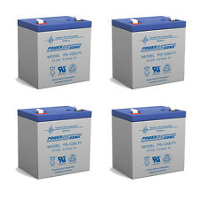 Power-Sonic 4 Pack - NEW UPGRADE Replacement for RITAR RT1245 battery 12V5AH