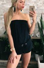 ❤️❤️ Women's VICTORIA'S SECRET Brand Sz XS Black Playsuit Romper EUC FREE POST❤️