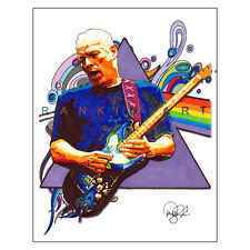 "David Gilmour Pink Floyd Rock Guitar The Wall 11x14"" Music Art Print Poster"