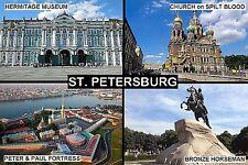 SOUVENIR FRIDGE MAGNET of ST. PETERSBURG RUSSIA