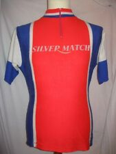 Ancien MAILLOT SILVER MATCH BRIQUET Cyclisme Cycling Team Jersey Maglia Camiseta