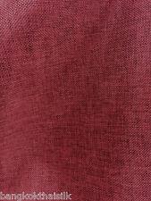 "Maroon Red Burlap Vintage Linen 60""W Fabric BTY Scarves Skirt Drape Apparel"