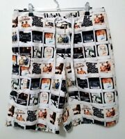 Speedo Retro Print Board Shorts Size 30 Retro/Vintage Print Boardies Swim Trunks