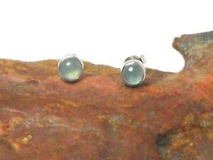AQUAMARINE  Sterling Silver 925 Gemstone Stud Earrings - 5 mm