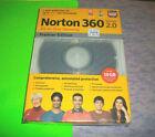 ⭐ NEW / SEALED ⭐ NORTON 360 PREMIER VERSION 2.0 WINDOWS XP / VISTA CD SOFTWARE