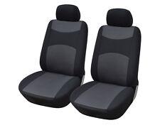 2 Front Car Seat Covers Semi-Custom Fabric Compatible to Subaru 860 Black