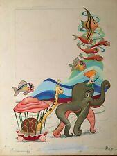 More details for rare disney vintage 1953 annual book art dean & son #35 little mermaid animation