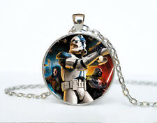 Star Wars Photo Cabochon Glass Tibet Silver Chain Pendant Necklace AAA57