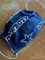 Face Mask Fabric Handmade Sports Dallas Cowboys NFL Football Washable Reusable