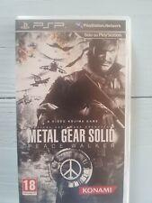 Metal gear solid peace walker PSP - ITA, come nuovo.