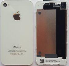 iPhone 4  Akkudeckel Backcover  Rückseite aus Glas  Weiss Weiß
