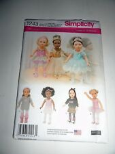 """SIMPLICITY 1243 PATTERN DOLL CLOTHES 18"""" ELAINE HEIGL BALLET CASUAL"""