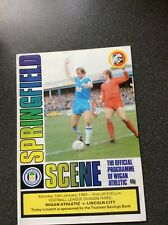 Wigan Athletic v Lincoln City Programme 1982/83
