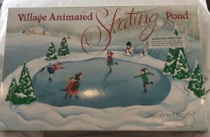 dept 56 snow village animated Skating Pond