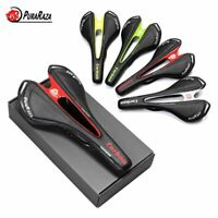 Unisex Carbon Fiber & Leather MTB Road Bike Saddle Seat Comfortable Racing Seats