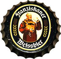 Deko Blechschild 35cm Kronkorken Franziskaner Wandschild Bar Kneipe Restaurant