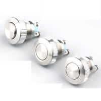 19mm Metal 316 Stainless steel Push Button Switch self-reset Momentary Reset 5A